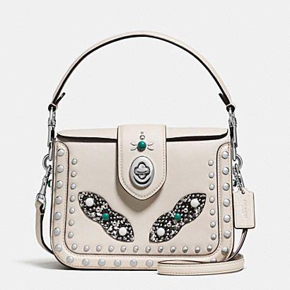 WESTERN RIVETS PAGE CROSSBODY WITH SNAKE DETAIL