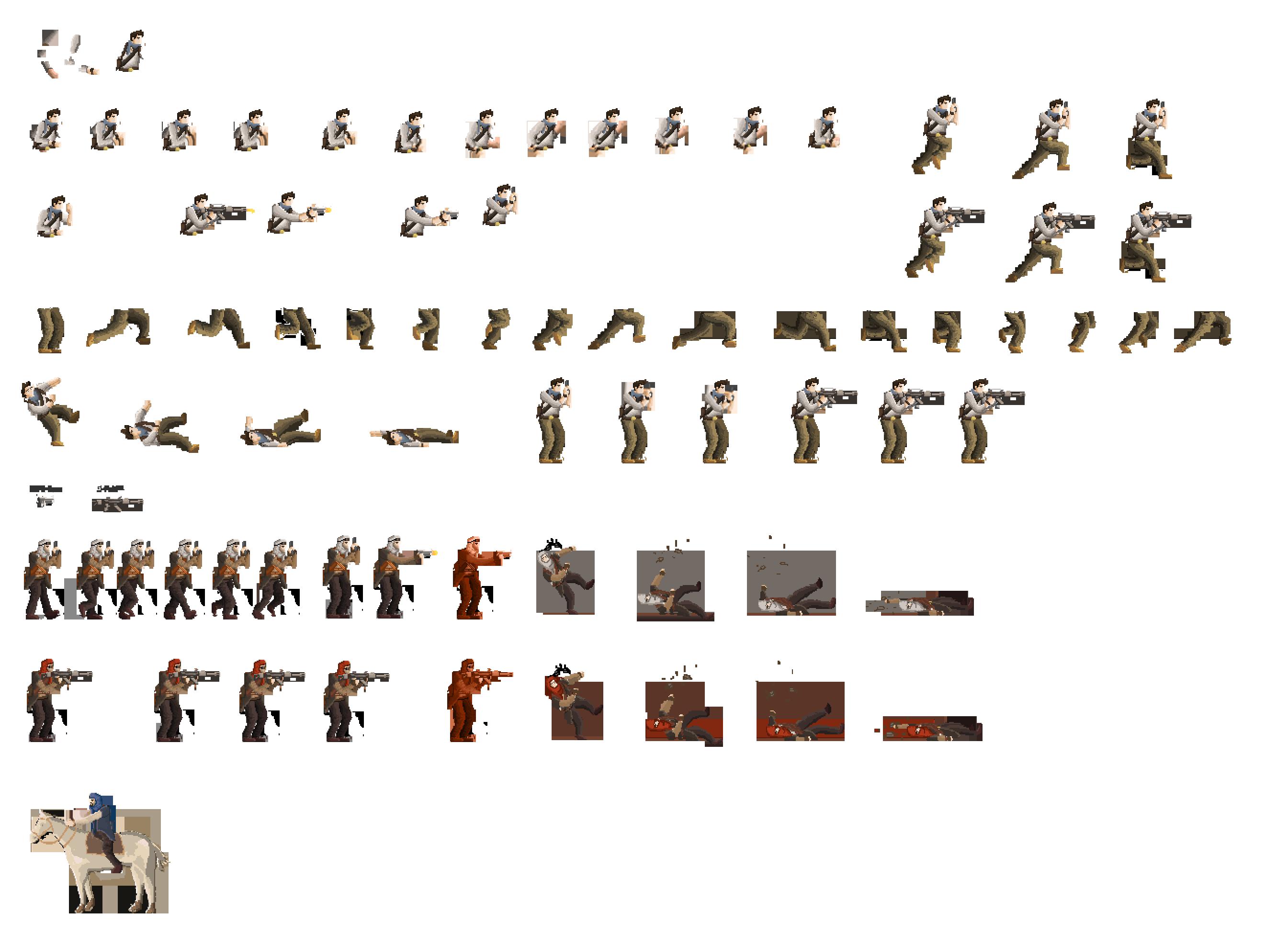 Walk Jump Action Sequence Sprite