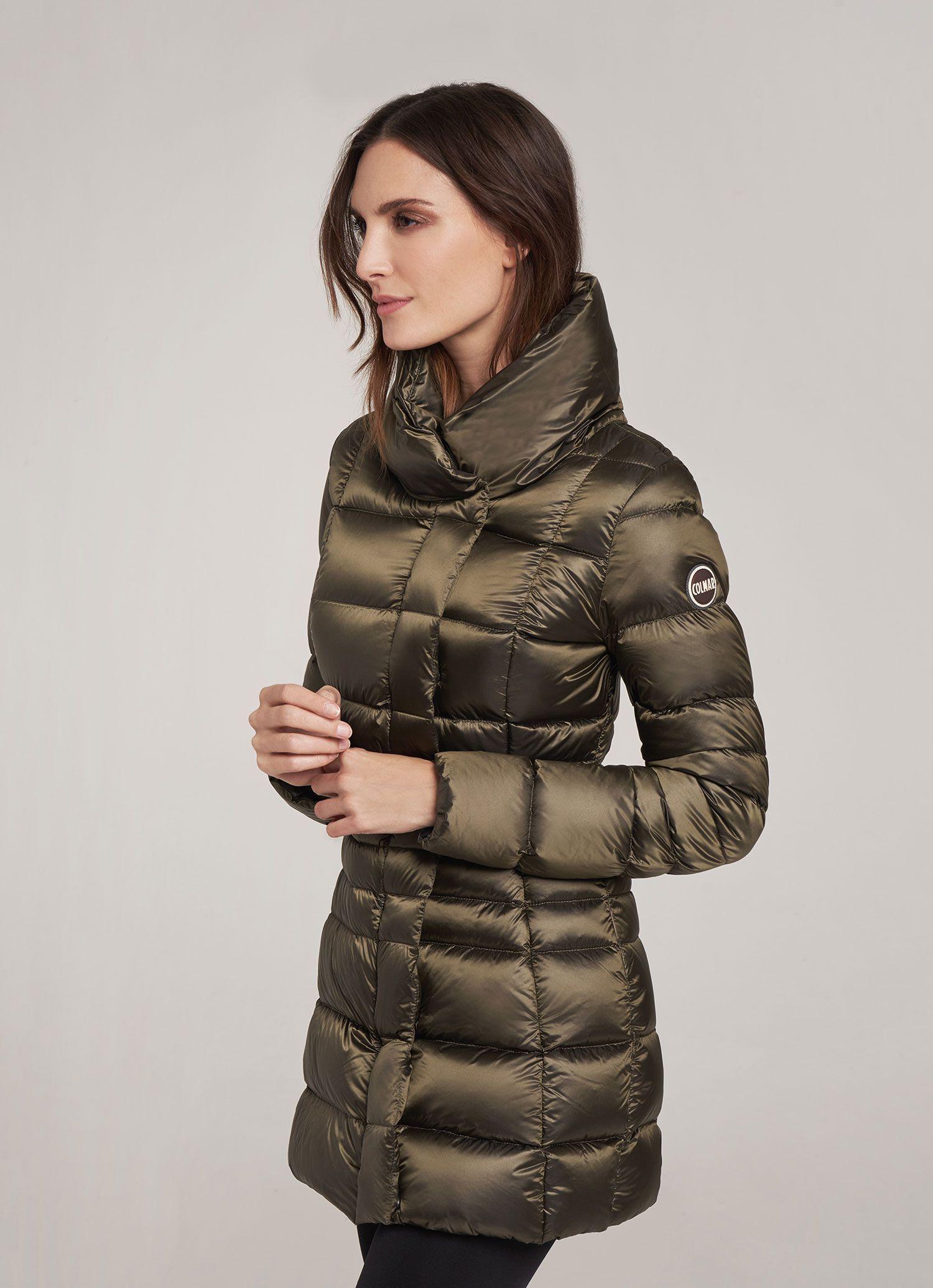 d590a1457a Colmar Originals women's glossy down jacket with maxi collar ...