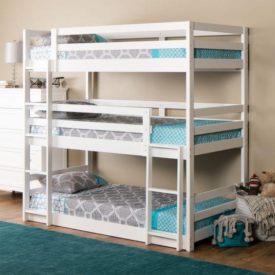 Triple Decker Bunk Beds Cool Bunk Beds Twin Bunk Beds