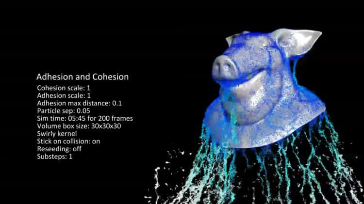 Coherent and Adherent Fluids in Houdini (Simulating Small