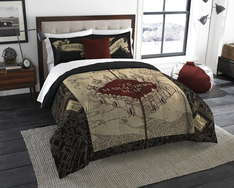 Harry Potter Queen Size Comforter 2 Pillow Cases Garri Potter