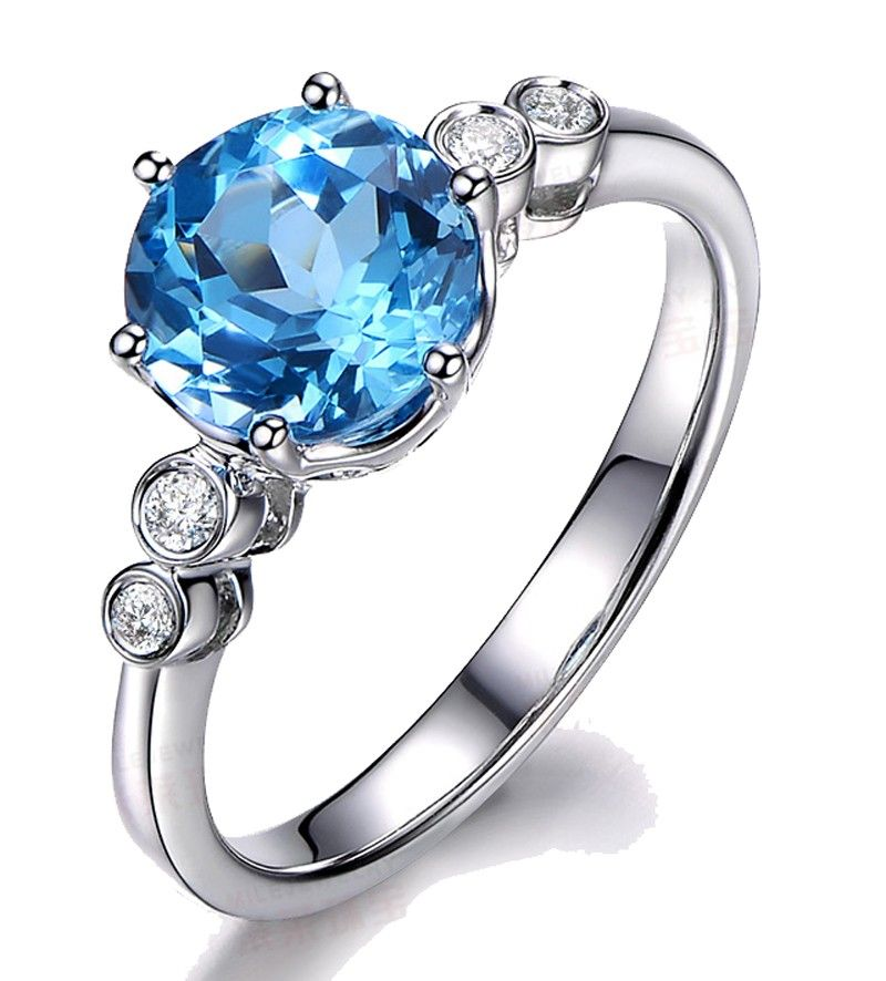 blue topaz engagement ring - Blue Topaz Wedding Rings