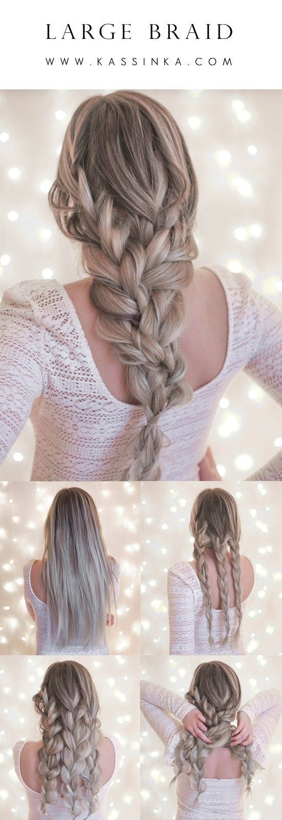 This simple style takes the standard braid look to something that