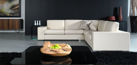 Mephisto Sectional Sofa In White Leather Made In Canada By Selene Furniture Italian Furniture Furniture Contemporary Furniture