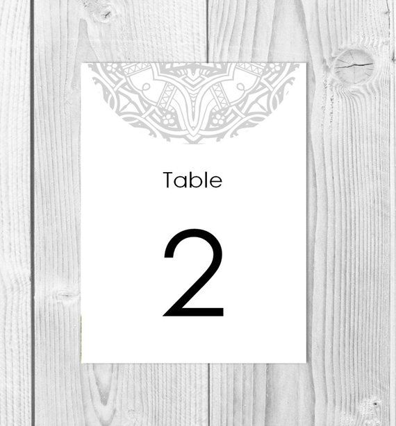 Table Numbers, Instant Download, DIY Printable, Mandala Wedding - Download Numbers Spreadsheet For Mac