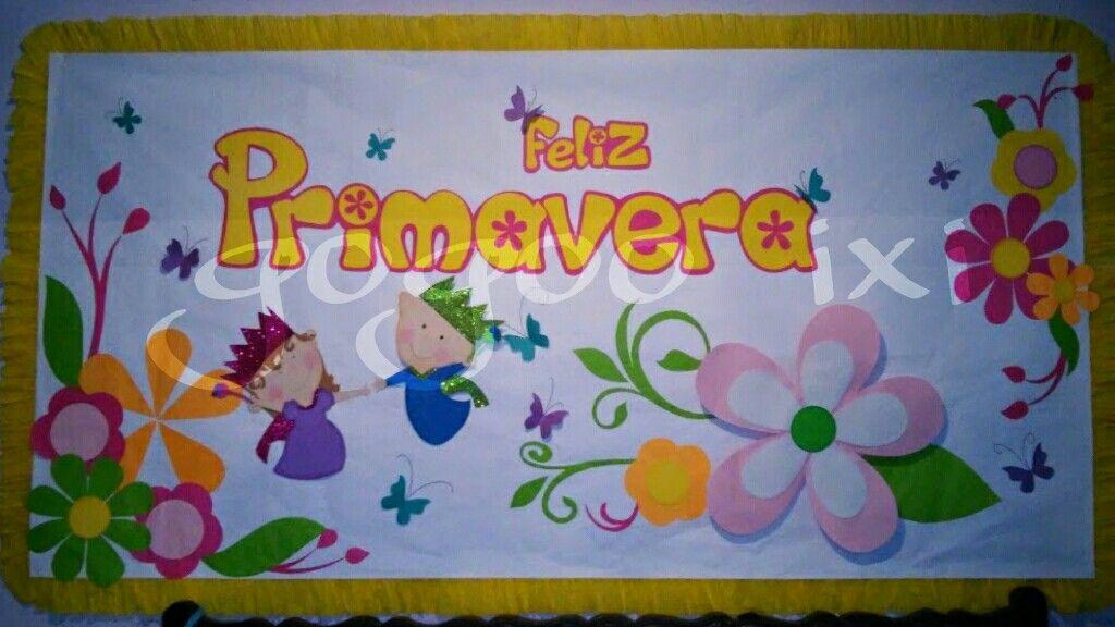 Periodico Mural Primavera Tk Classroom Decor Spring Y Classroom