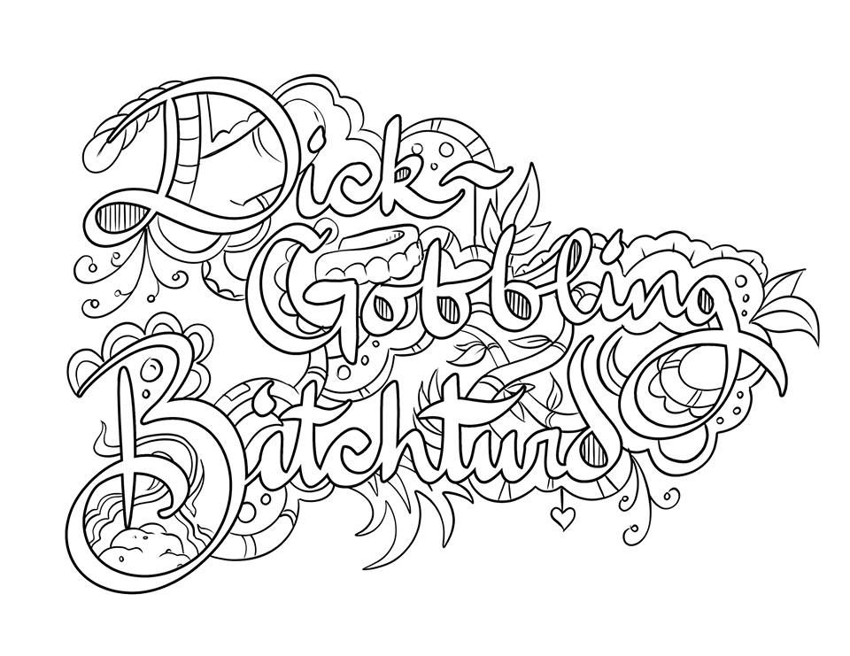Epic image regarding free printable coloring pages for adults only swear words