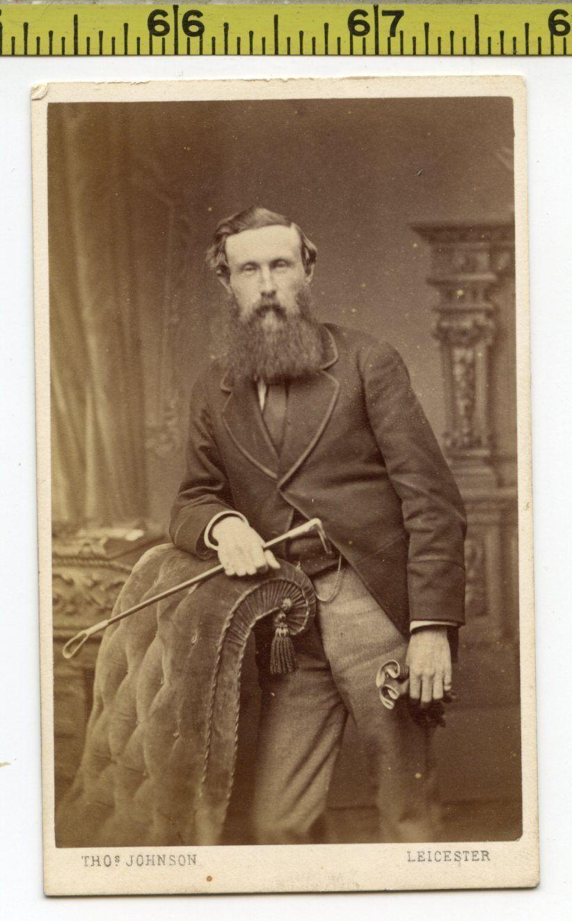 Male gloves ebay - Vintage 1890 S Cdv Photo English Man W Huge Beard Holds Riding Crop Gloves Ebay