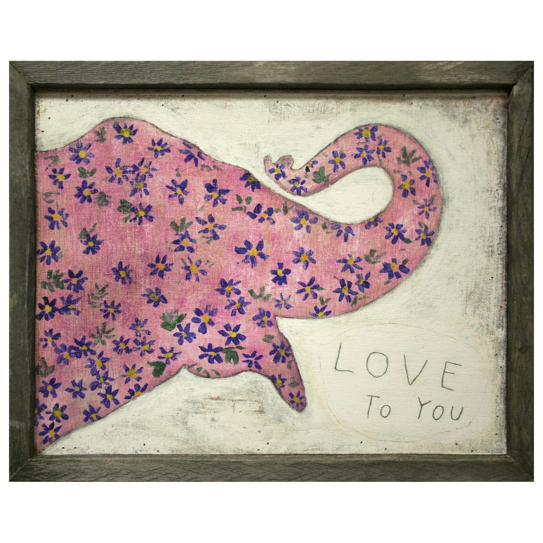 Sugarboo Designs Pink Elephant Art Print @LaylaGrayce