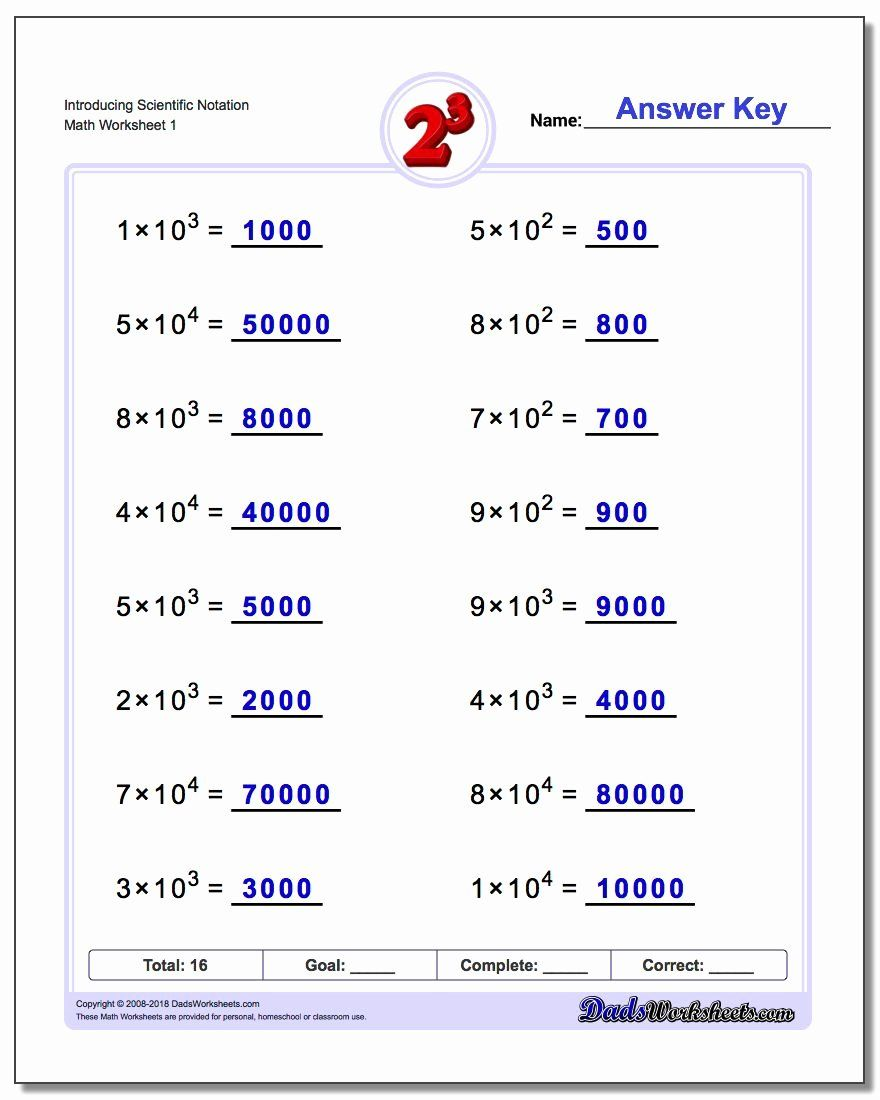 Scientific Notation Worksheet With Answers Inspirational Powers Of Ten And Scientific Not In 2020 Scientific Notation Scientific Notation Worksheet Exponent Worksheets