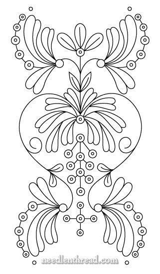 Free Hand Embroidery Pattern Art Nouveau Brazilian Embroidery