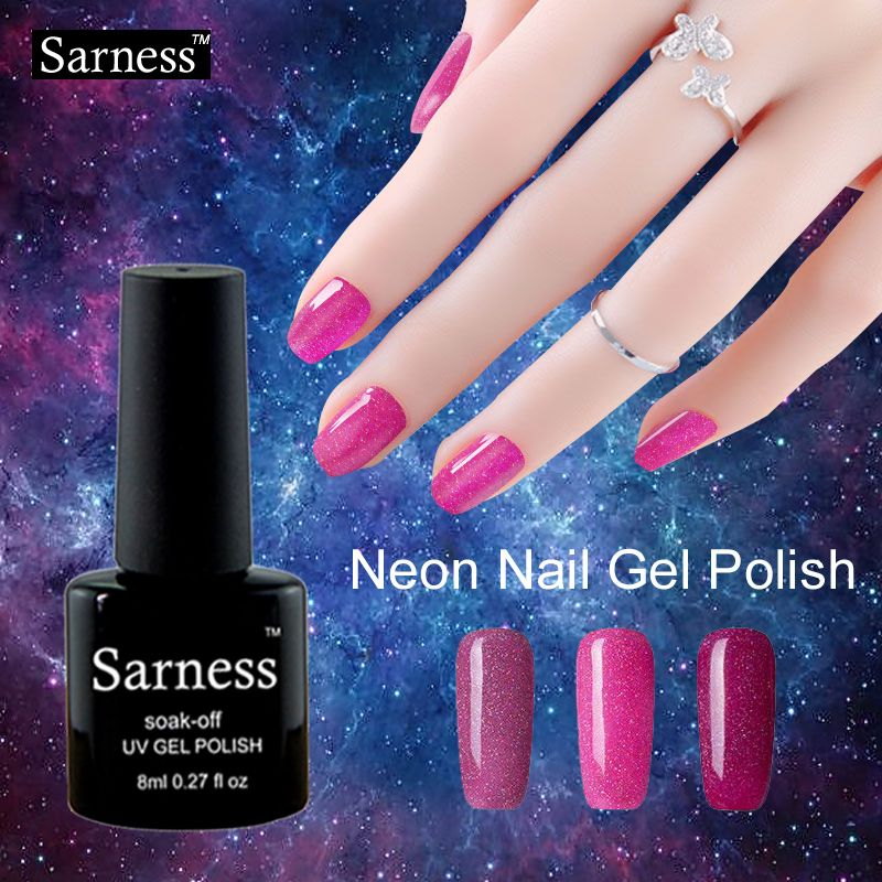 Professional UV Gel Manicure Colorful Gel Lacquer Shiny Color Led ...