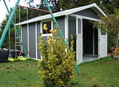 abri jardin pvc grosfillex double porte