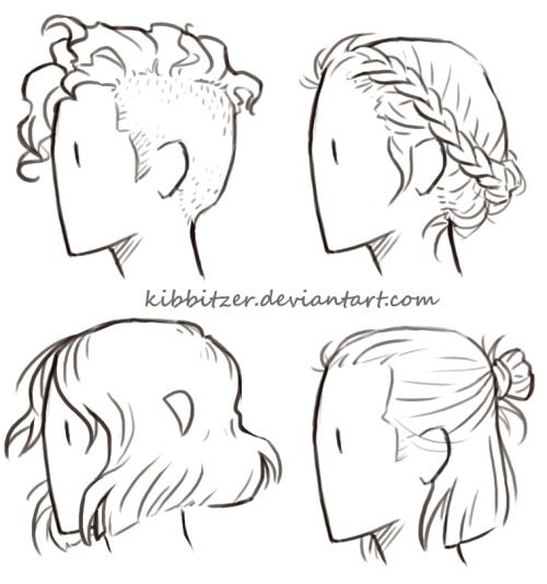 Hair Reference Sheet by *Kibbitzer The braids one was really
