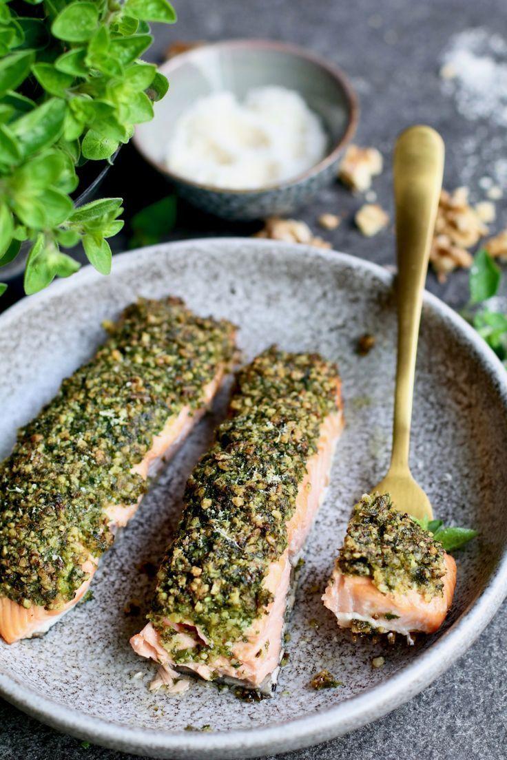 Zalm uit de oven met parmezaanse kruidenkorst - Beaufood #gezondeten