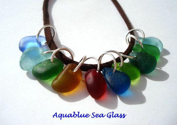 10  Drilled Sea Glass  Small / Medium   by aquablueseaglass, $28.00