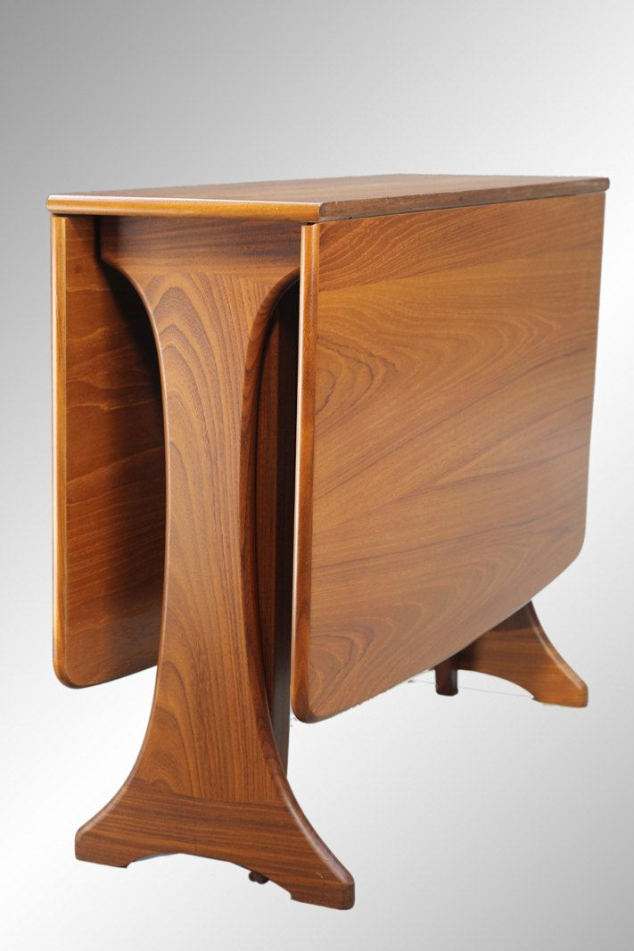 Stunning Danish Modern Teak Dining Table Apartment Size Drop Leaf Danish Mo
