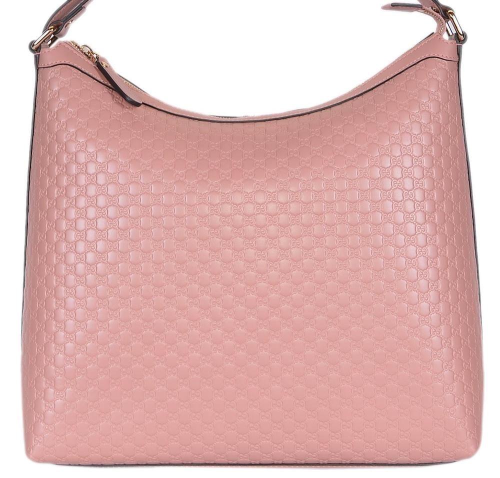 b4da96c523f9 NEW Gucci 449732 Soft Pink Micro GG Guccissima Leather Purse Hobo Handbag   Gucci  Hobo