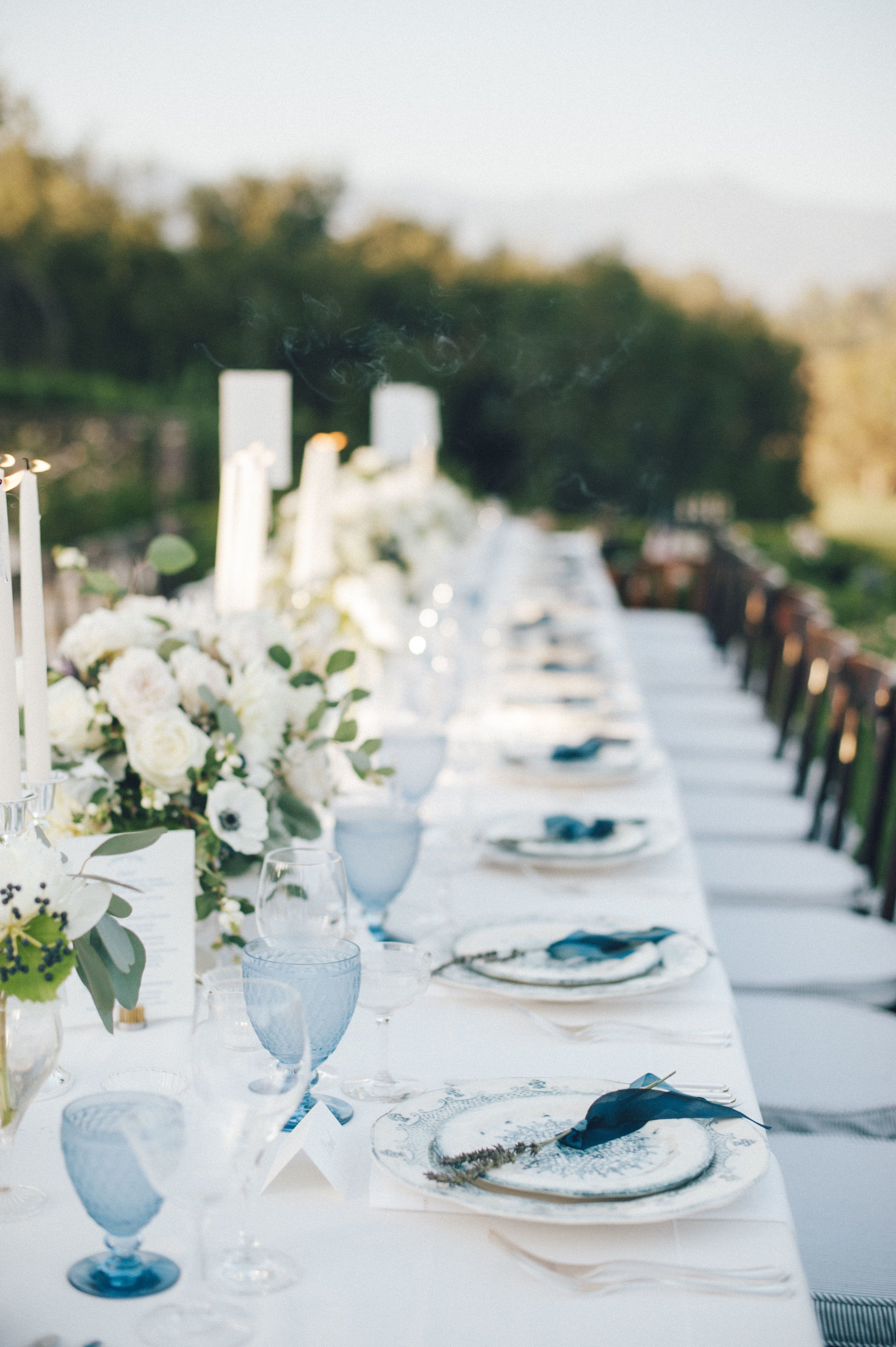 Astrologyinspired wedding designed with shades of blue