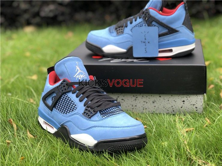 Travis Scott x Air Jordan 4 Cactus Jack Houston Oilers 308497-406 ... 1a0a8622b