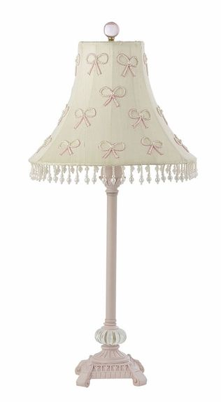 Delightful Lamp For Little Girlu0027s Room, Need To Paint But Not This Shade, Use Pompon