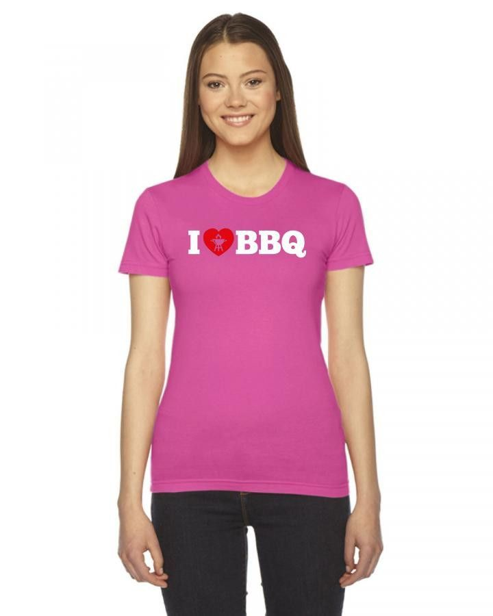 i love bbq beyaz Ladies Fitted T-Shirt