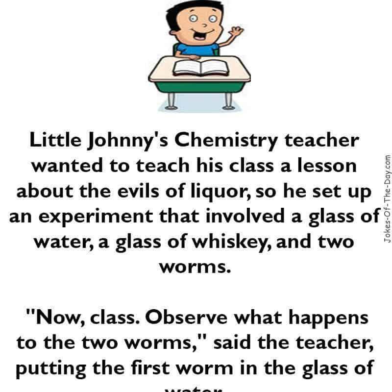 Little Johnny S Chemistry Teacher With Images Funny Long Jokes