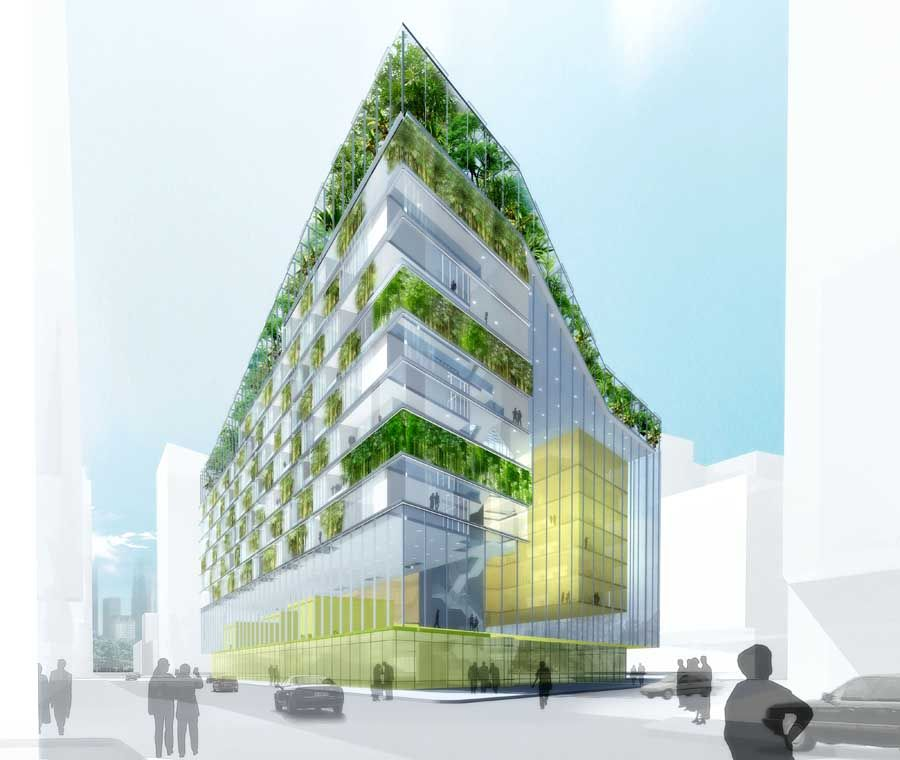 green office building. Evolved Ecotecture: Zuidkas Sustainable Skyscraper Helps Prepare For The Future Green Office Building G
