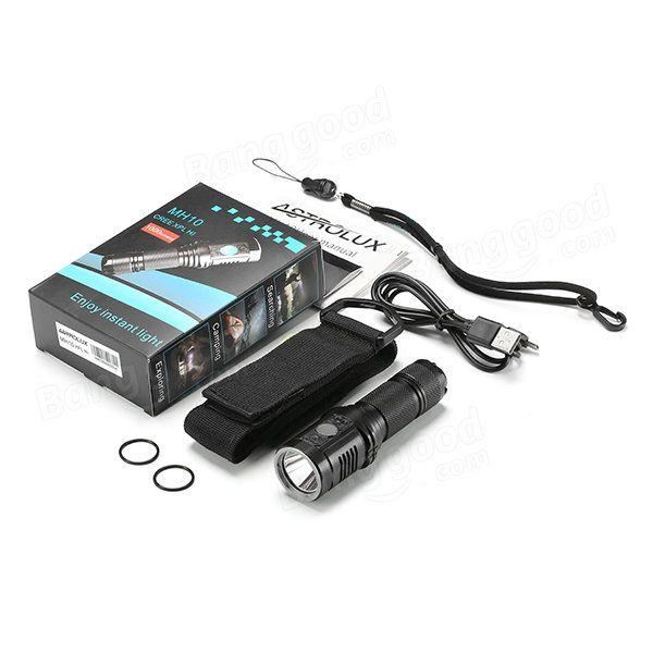 Astrolux MH10 Cree XPL HI 18650 1000LM USB Rechargeable Outdoor LED Flashlight Sale - Banggood.com