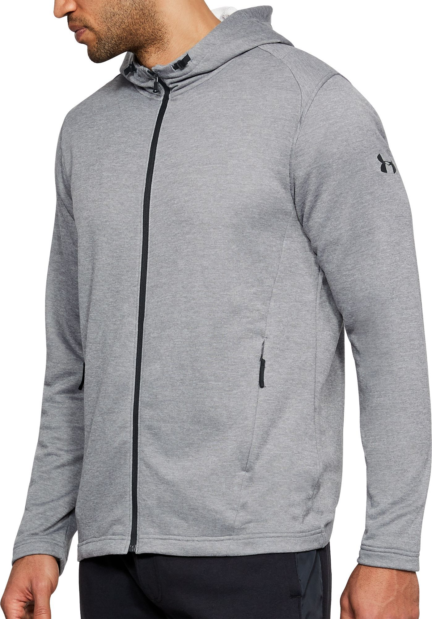 ec1fe1679 Under Armour Men's MK1 Terry Fleece Full Zip Hoodie, Size: Medium, Gray