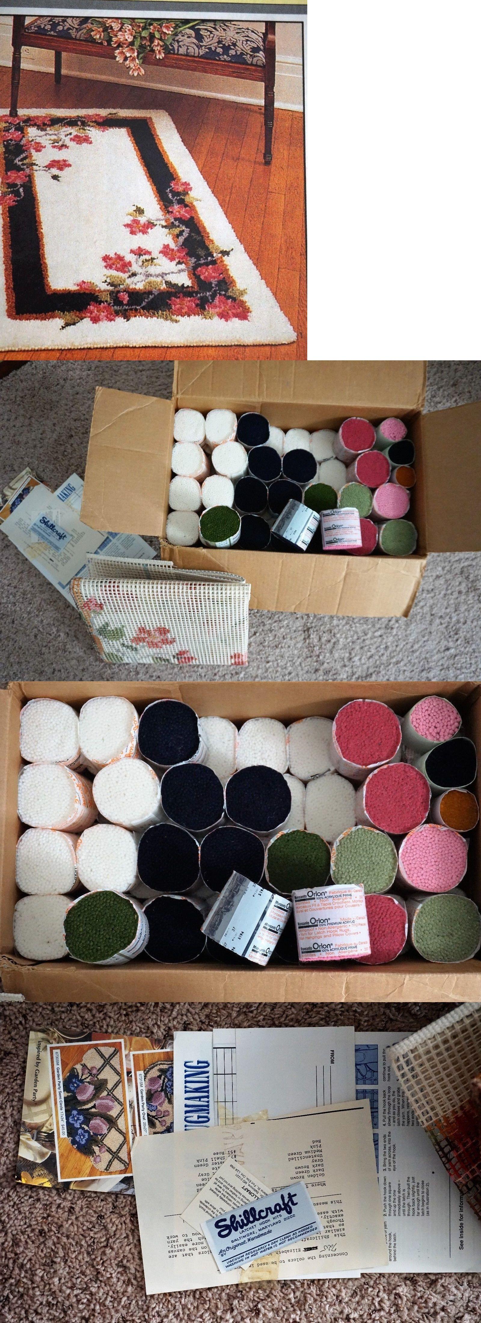 Latch Hooking Kits 28148 Vintage Readicut Shillcraft Hook Rug Canvas Kit Elizabeth 725 Orlon It Now Only 160 On Ebay