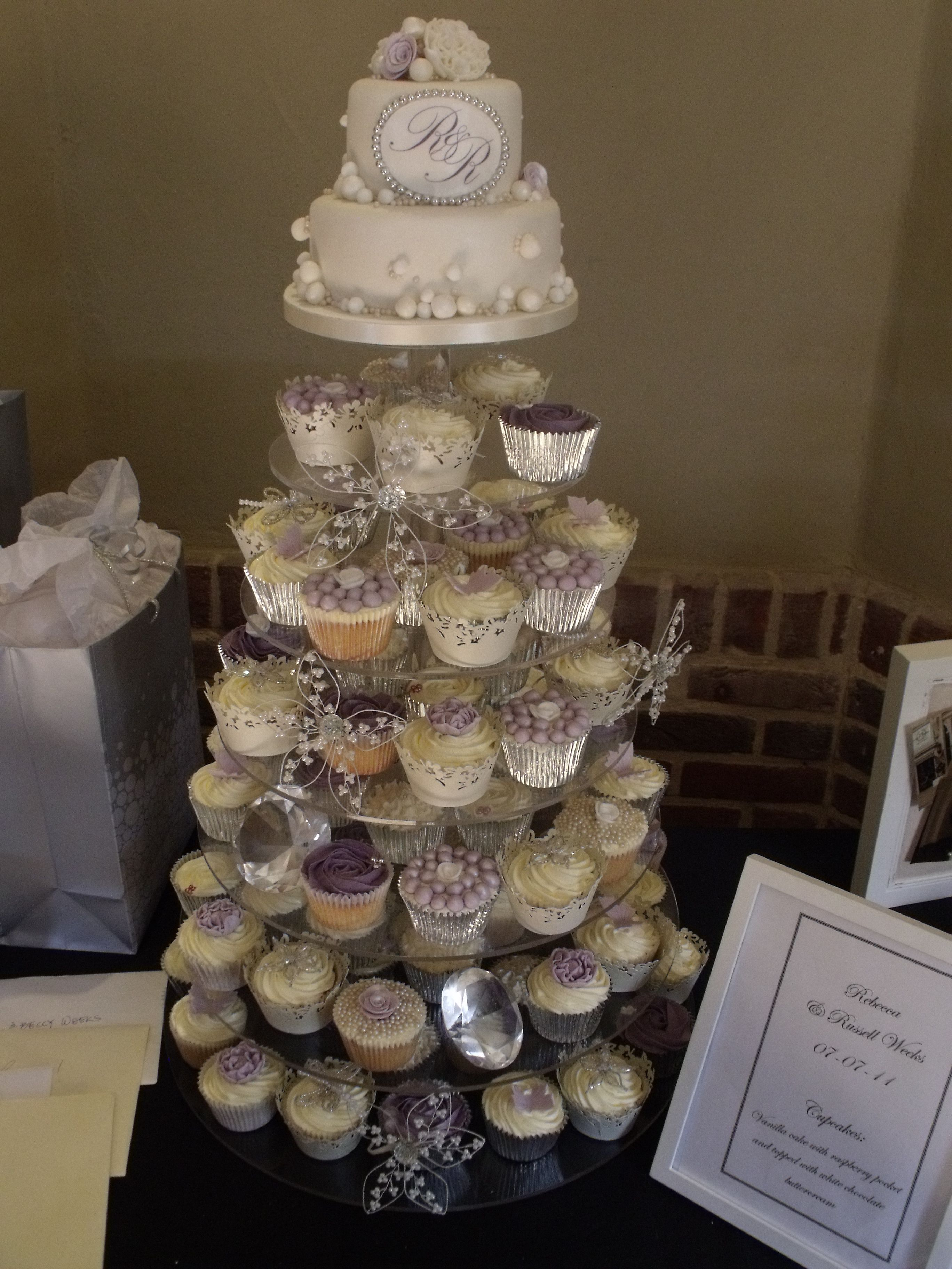 Vintage Cupcake Tower Very Cute For A Wedding I Have An Obsession With Cupcakes Versus Cake