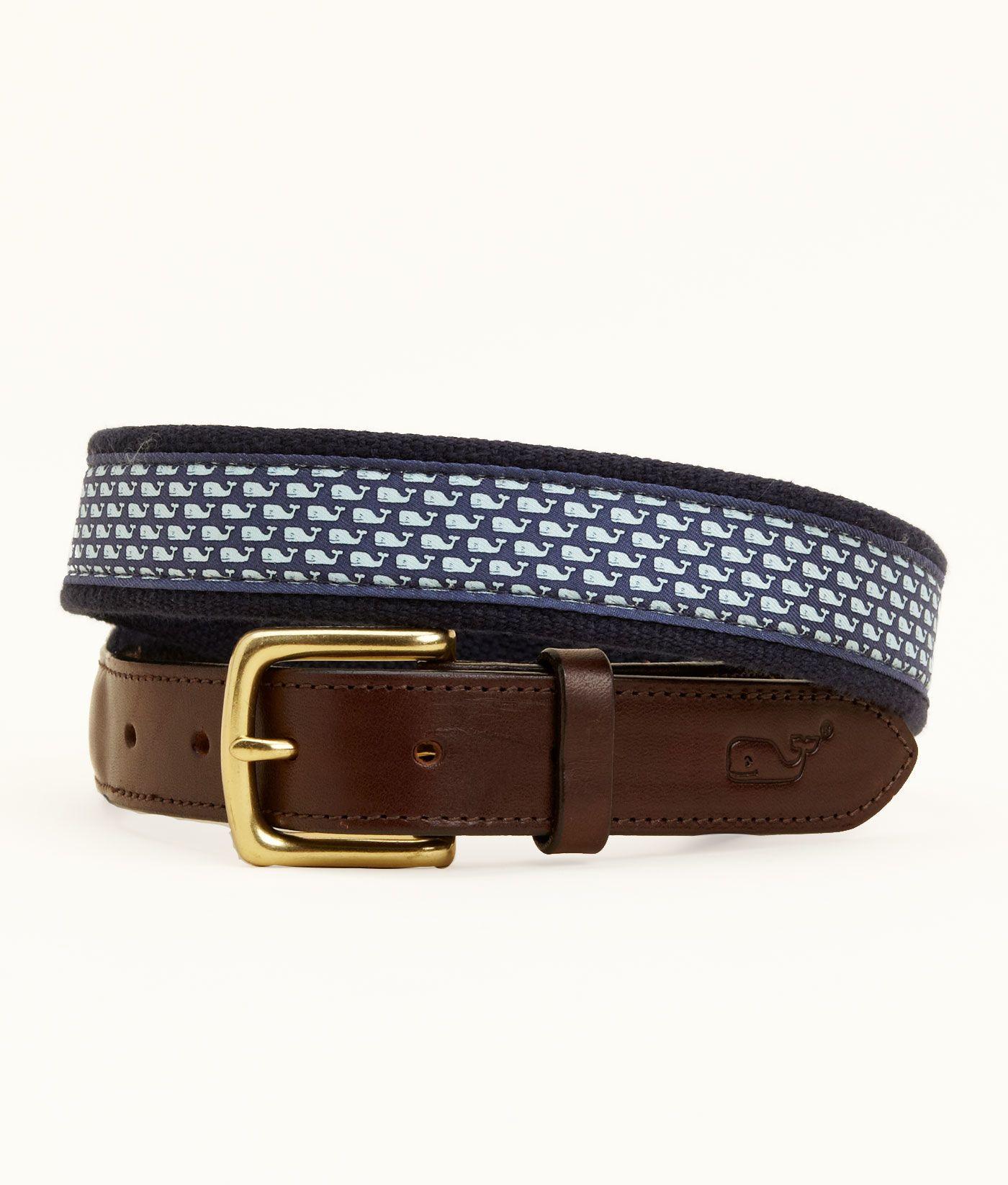 Canvas Belts for Men Vineyard Whale Canvas Club Belt