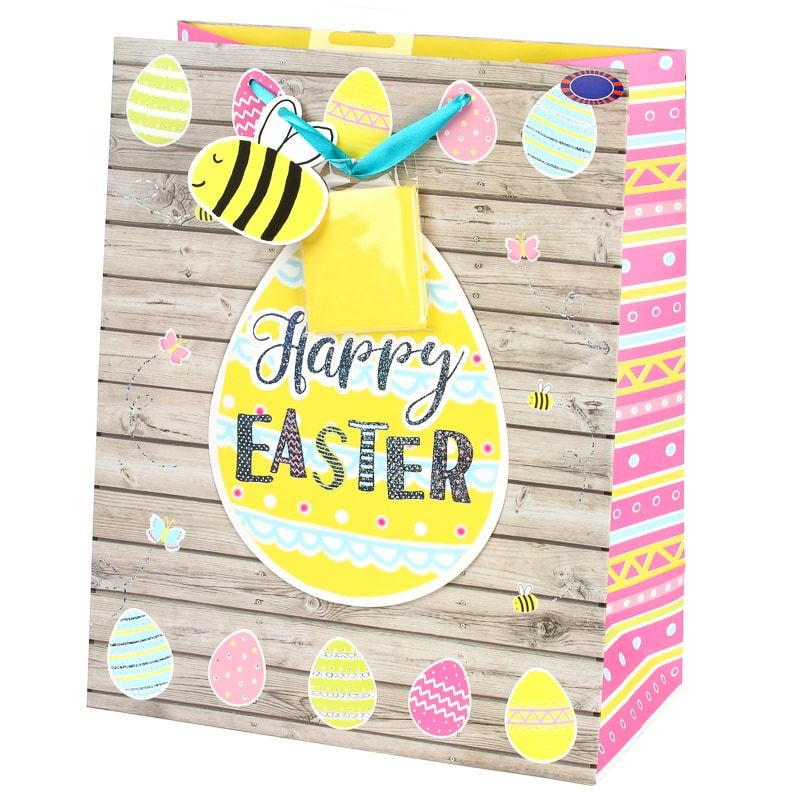 Give a gift of chocolate to someone special at easter with this luxury easter gift bag wood effect negle Image collections