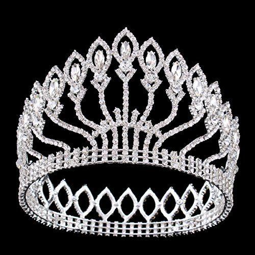 FUMUD Wedding Bridal Crystal Tiara Crowns Princess Queen Pageant Prom  Rhinestone Silver Tiara Headband Wedding Hair Accessories White     Be sure  to check ... c5aa9019fd7f