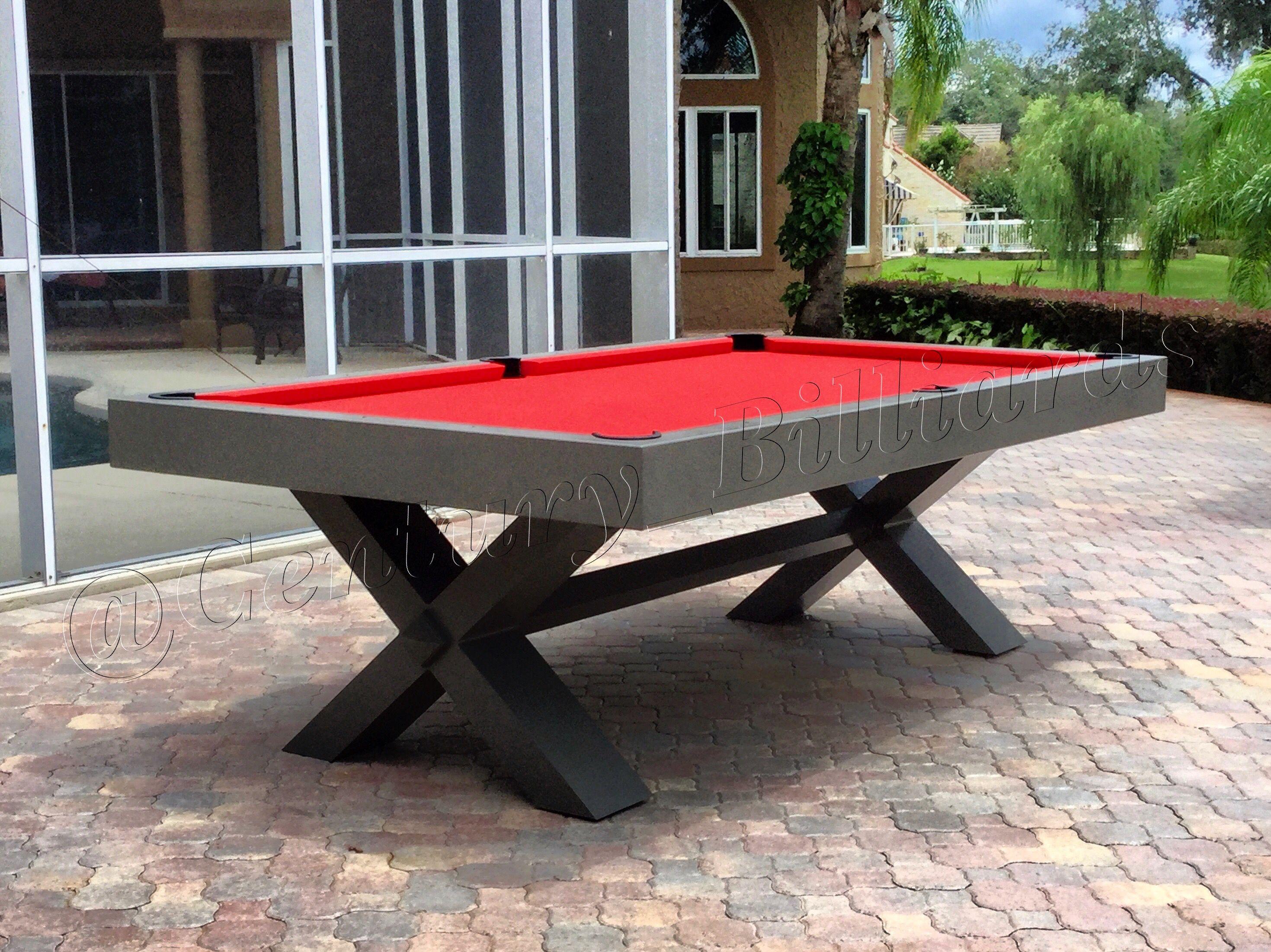 Industrial Yet Modern Outdoor Pool Table Outdoor Pool Table Outdoor Pool Modern Outdoor Modern outdoor pool table