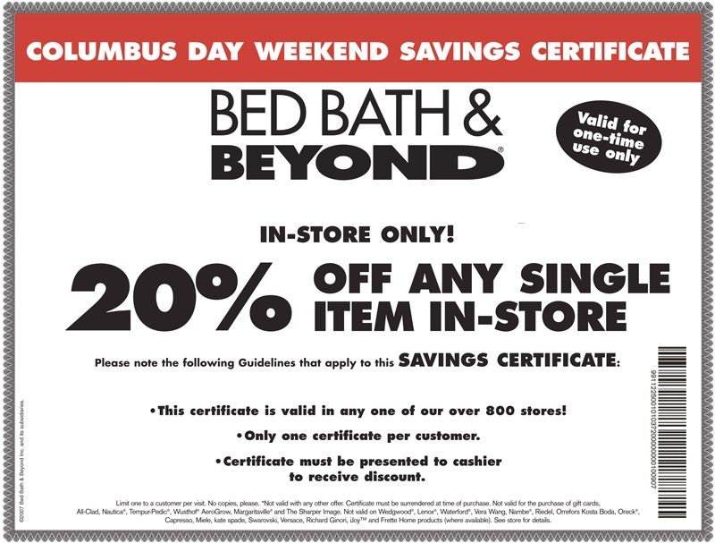 Bed bath and beyond offers coupon codes for online purchases or bed bath and beyond offers coupon codes for online purchases or printable 20 off coupon when you sign up for the stores free newsletter see ht fandeluxe