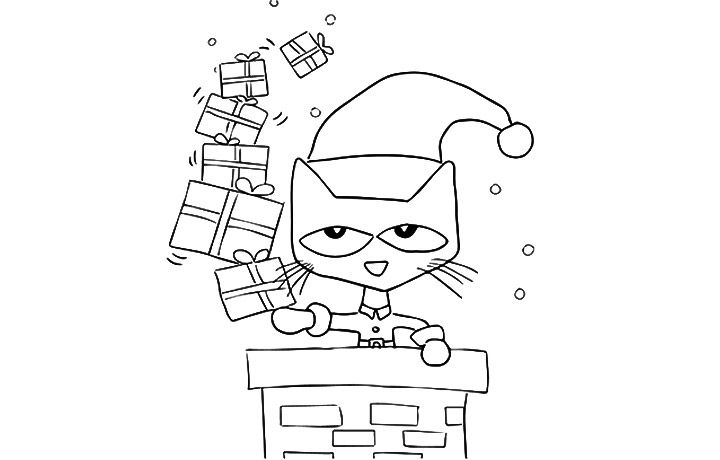 Top 10 Free Printable Pete The Cat Coloring Pages Online Christmas Coloring Sheets Cat Coloring Page Christmas Coloring Pages