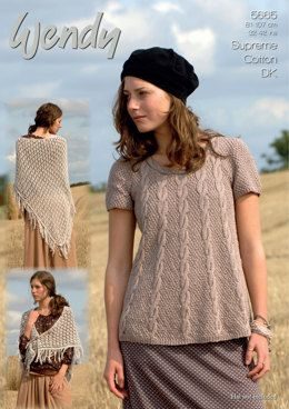 df35901c0 Swing Tunic and Shawl in Wendy Cotton DK - 5665