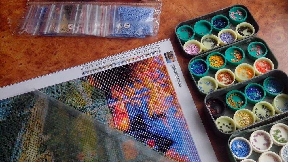 Cross stitching meets paint by numbers with beautiful diy