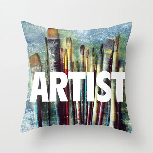 throw pillowcase pillow with words art studio paint brushes artist gift & throw pillowcase pillow with words art studio paint brushes ... pillowsntoast.com