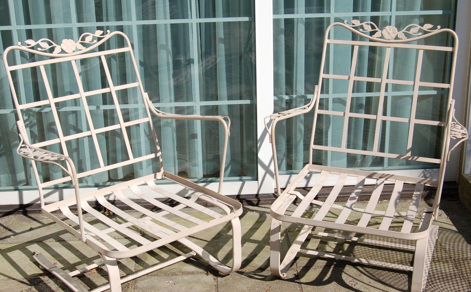Lyon Shaw Windflower Lattice Vintage Patio Wrought Iron Patio
