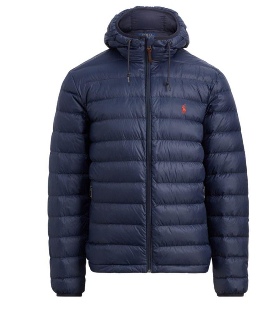 POLO RALPH LAUREN Navy Blue Packable Down Jacket Outdoor