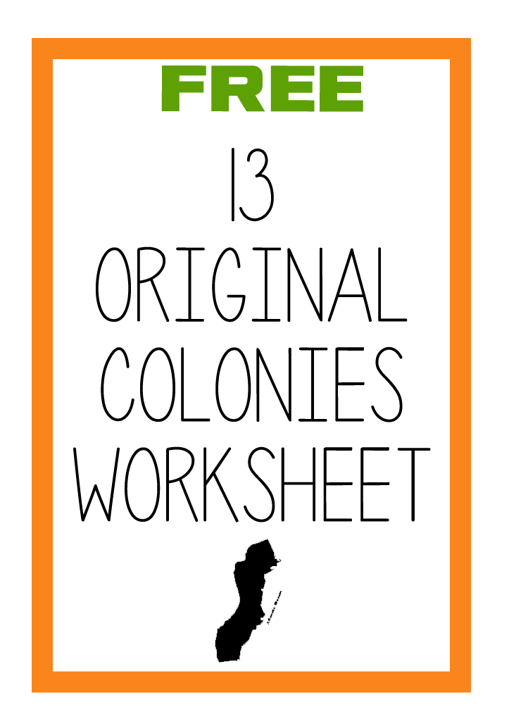 FREE Original 13 Colonies Labeling Worksheet – 13 Colonies Worksheets