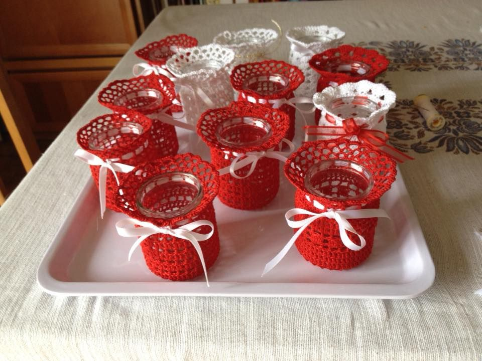 crochet idea for candle jar ♥