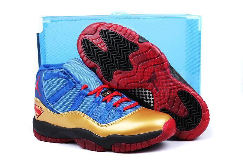 www.okjordans.com... Only 75.89 JORDAN 11 SUPERMAN BLUE GOLD RED ... 76c4f3efd
