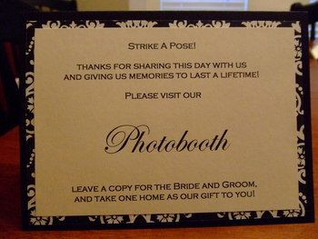 Photobooth Sign For Guestbook Table