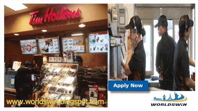Team Member Vacancy in Canada at Tim Horton Fast Food