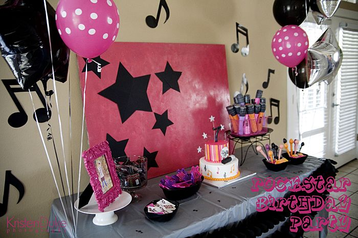 Rockstar Birthday Party Cumple Rock Pinterest Fiestas